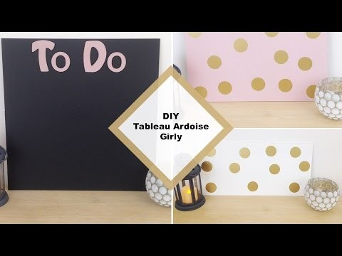 DIY TABLEAU ARDOISE GIRLY - Paperboard girly