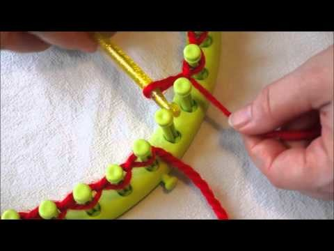 Comment monter les mailles au tricotin rond avec une aiguille de crochet