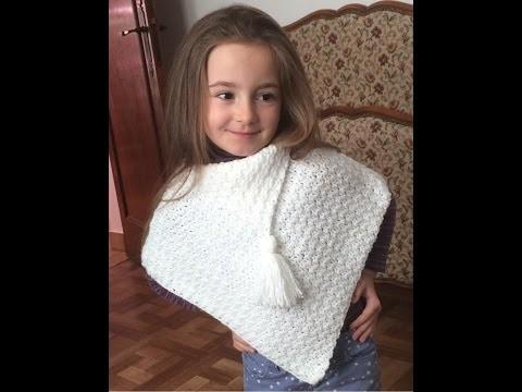 Crochet : Poncho très facile débutant. Crochet poncho tejido muy facil