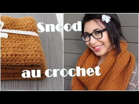 Crocheter un snood. bride au crochet
