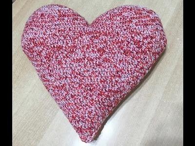 Tuto coeur coussin au crochet