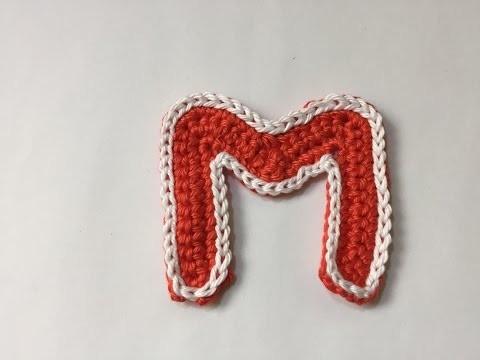 Tuto  alphabet lettre M au crochet spéciale gauchères