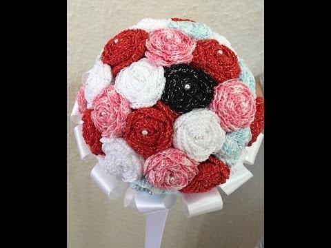 Tuto bouquet de roses au crochet