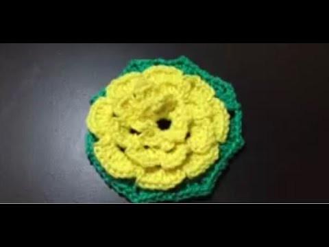 Tuto fleure Hexagone au crochet spéciale gauchères