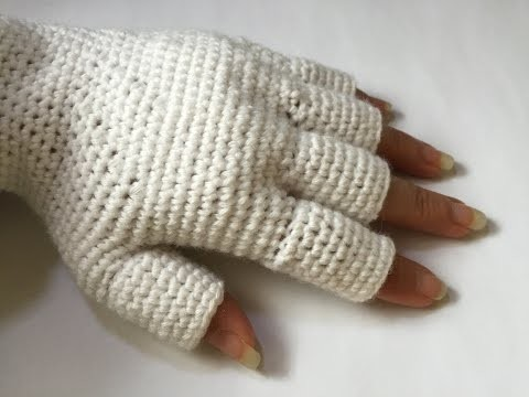 Tuto gants avec demi doigts au crochet spécial gauchères