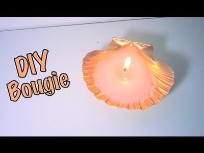 DIY fabriquer une bougie dans un coquillage