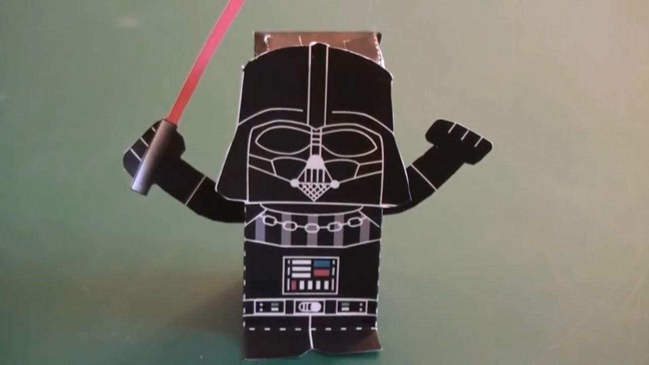 Jouet en papier Star Wars : Dark Vador paper toy