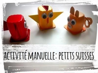 Activité manuelle   diy animaux en pot de petits suisses