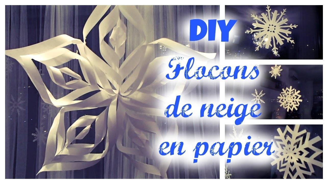 DIY de Noël ❄ || Des Flocons de neige en papier