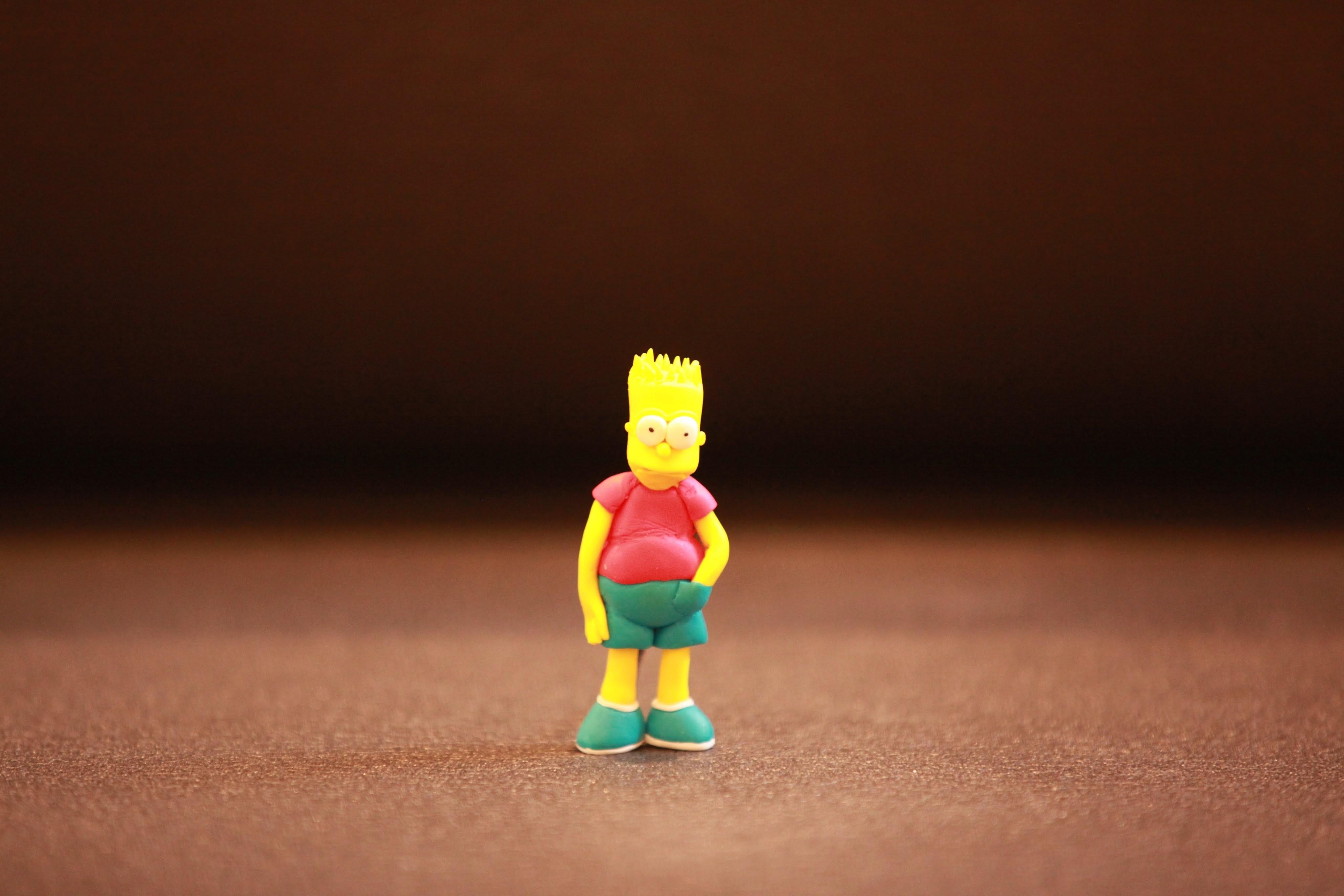 Bart Simpson; polymer clay fimo. pâte polymère fimo