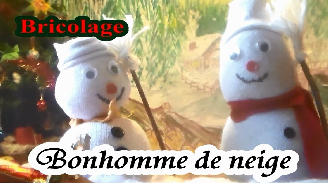 Bricolage Noël : Bonhomme de neige à fabriquer DIY