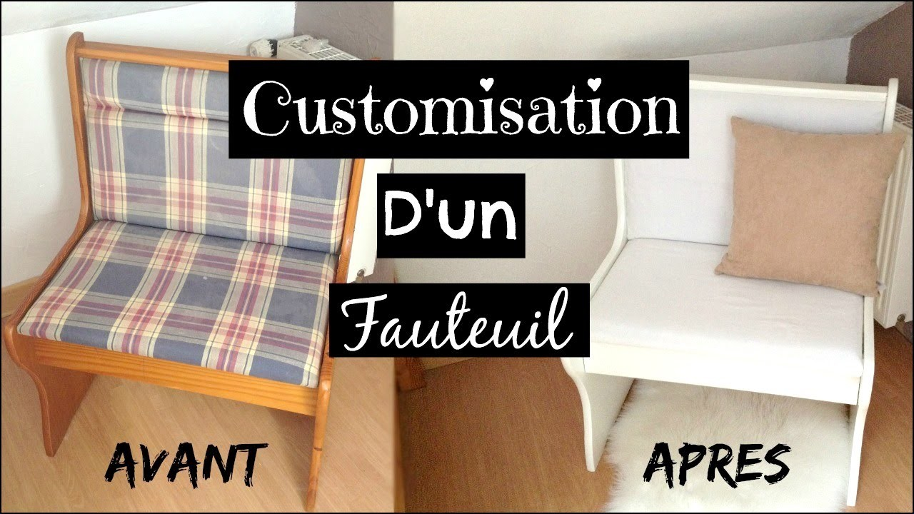 CUSTOMISER UN FAUTEUIL - Customisation de meuble DIY