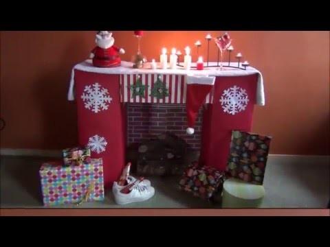 DIY - Bricolage de Noël #11 (la cheminée en carton)