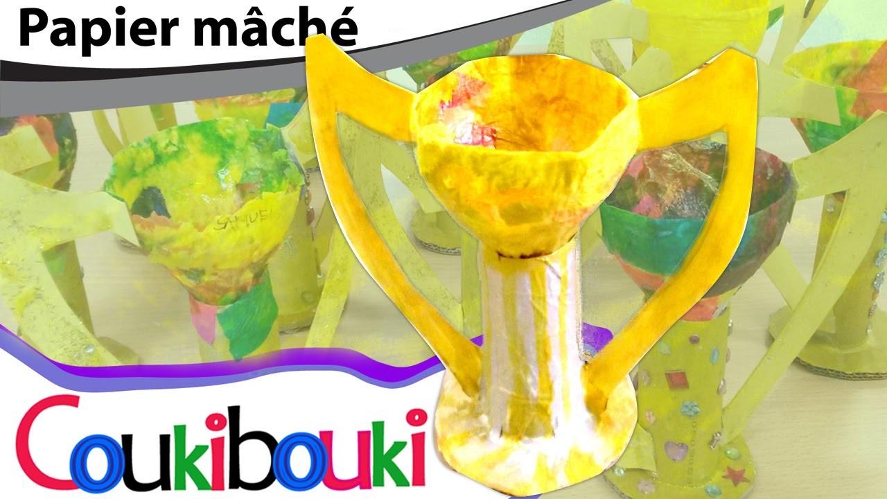 DIY Coup des champions en papier mâché | activité artistique pour enfant -  How to Make ?