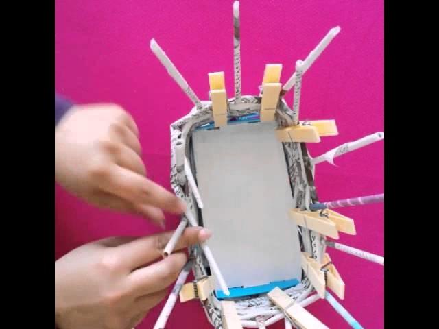 DIY Recyclage journaux boite de fromage Vannerie