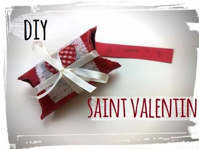 Diy saint valentin boite message cadeau rouleau en carton