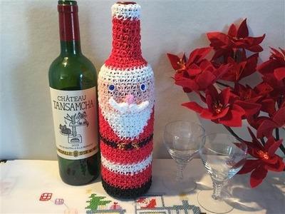RAINBOW LOOM レインボールーム サンタクロースのボトルカバー cache bouteille en forme de père noël