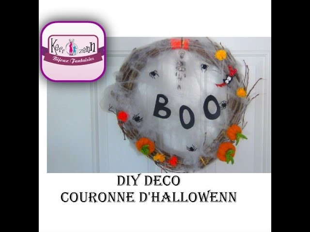 DIY COURONNE HALLOWEEN