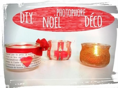 Diy noël 3 photophores déco de table