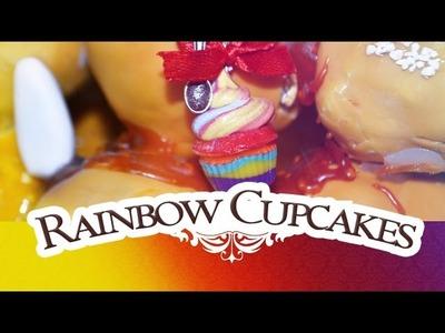 Tutoriel: RAINBOW CUPCAKES en polymère - VIDÉO CHALLENGE VS L'ATELIER DE ROXANE