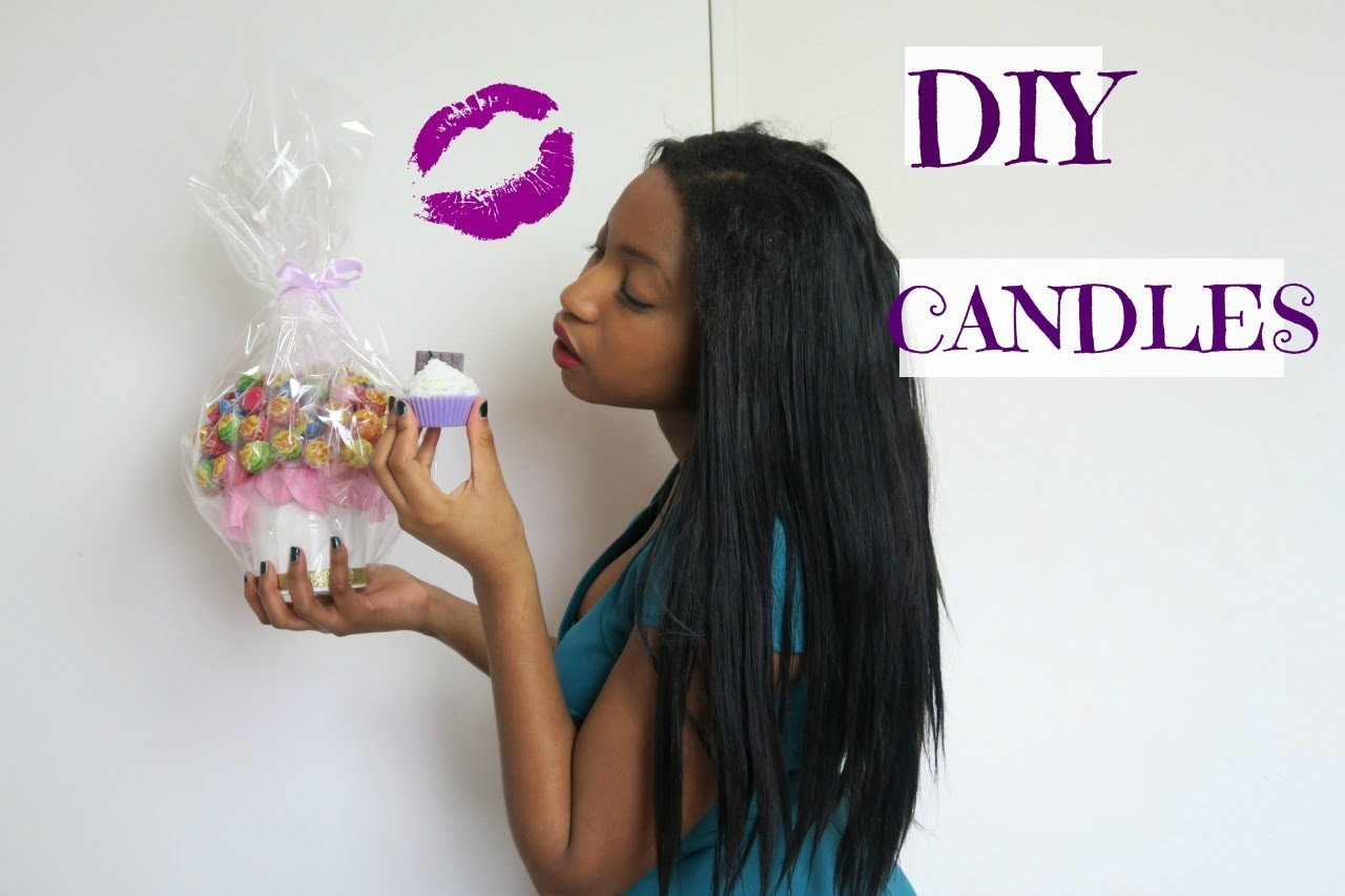 DIY #2 [how to make] candles.bougie cupcake♡