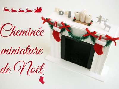 (TUTO) Cheminée de Noël miniature. Miniature christmas fireplace