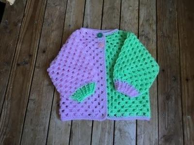 Crochet brassière hexagone toutes tailles très facile. Cardigan crochet very easy
