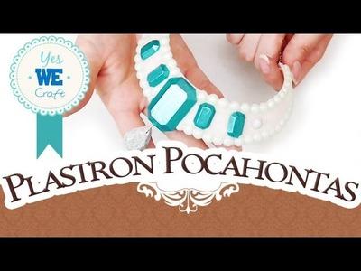 YWC#14: Challenge Creomax. Plastron revisité de Pocahontas. DISNEY, YES WE CRAFT, tuto polymère.