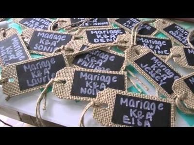 21.06.2015: Sushis maison & DIY Mariage (étiquettes, corbeille nuptiale, livre signature. )