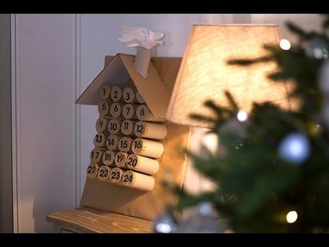DIY Noël : Calendrier de l'Avent 100% Recup'