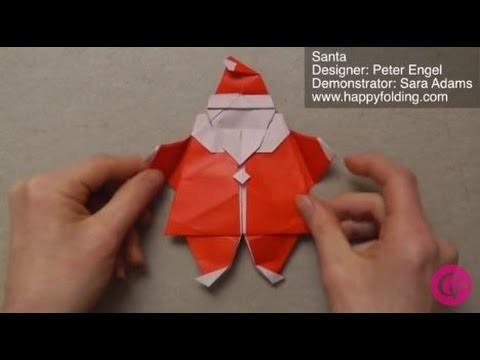 DIY Origami Père Noël