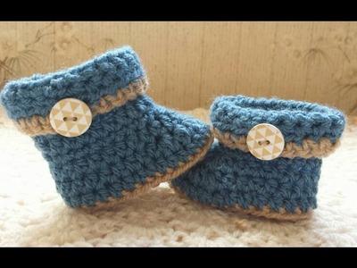 Comment faire des bottes de bébé au crochet