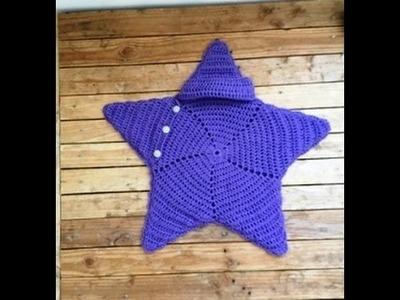 Crochet cocoon étoile bébé très facile. Cocoon crochet star baby very easy