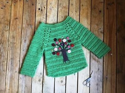 Pull crochet facile toutes tailles 1. Jersey crochet todas las tallas facil 1