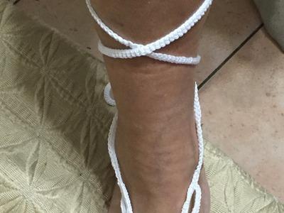 Tuto chaine de pied au crochet