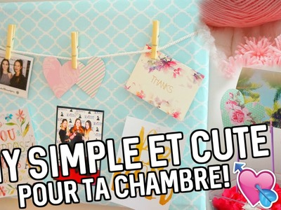 DIY simple & CUTE pour ta chambre!