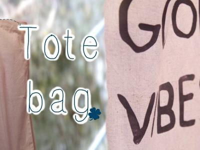 {DIY} Tote bag - GOOD VIBES ☼