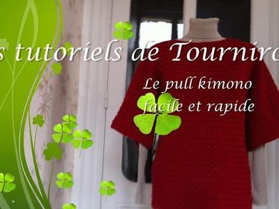 Tutoriel crochet   Le pull kimono facile et rapide