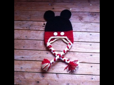 Bonnet mickey au crochet facile. Gorro mickey facil a crochet