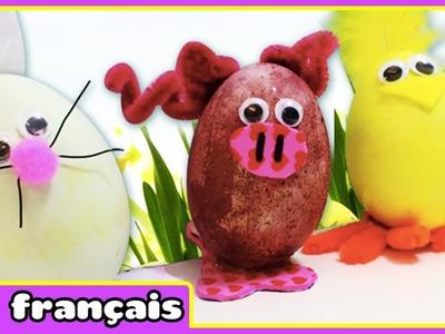 Bricolage de Pâques: Œufs de Pâques | DIY Easter Egg Crafts | Par HooplaKidz Français