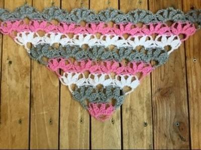 Châle Pétales de fleurs crochet super facile. Châle crochet petalos de flores facil