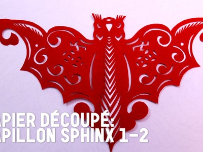Découpage traditionnel chinois : Papillon Sphinx 1-2 - HD