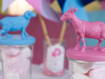 DIY Déco : Des bocaux animaux à friandises