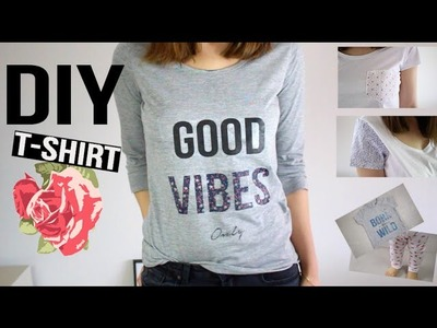 DIY PRINTEMPS - ETE : 3 T-SHIRTS CUSTOMISES + VARIANTES MAMAN VS BEBE. t-shirt customization