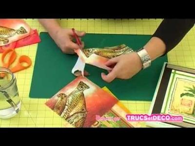 Le découpage d'une serviette - Tutoriel par trucsetdeco.com
