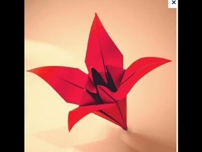 Origami - Fleur d'Iris (tutorial)