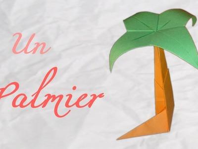 Origami ! Un palmier de bureau - palm of desk [ HD ]