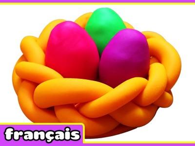 Panier à oeufs de Pâques en Pâte à Modeler | Play doh Easter Egg Basket | Par HooplaKidz Français