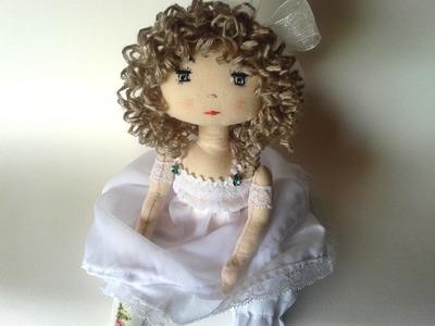 Patron poupée chiffon : Boucler les cheveux