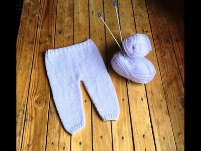 Tricot : Pantalon bébé facile tutoriel . Knitting Baby Pants easy